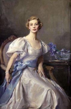 23silence:  Philip Alexius de Laszlo (1869-1937) - Portrait of Cecile Rankin