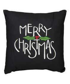 This Black 'Merry Christmas' Throw Pillow is perfect! #zulilyfinds