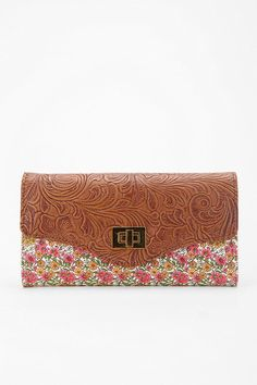 Kimchi Blue Tooled Floral Checkbook Wallet #UrbanOutfitters