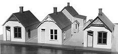 Grandt Line Products Inc Reese Street Row House Kit (3) -- HO Scale Model Railroad Building -- #5903