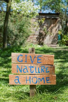 Give nature a home in your garden or school grounds. Build a plan with us and share what you've done. Kids will love it. Simple free instructions
