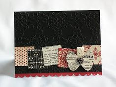 love black cards, great use for scraps