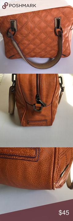 """RACHEL Rachel Roy Orange Quilted Handbag Like new. I bought this a couple of years ago and never used it. There is one tiny scuff at one of the bottom corners as pictured. About 8 1/2"""" high and 11"""" wide. Great size and great for fall. RACHEL Rachel Roy Bags Satchels"""