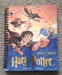 HARRY POTTER 2001-2002 STUDENT PLANNER Spiral BOOK New in Collectibles, Fantasy, Mythical & Magic, Harry Potter | eBay