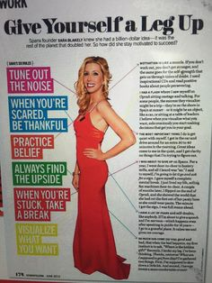 Great advice from one of my favourite GlobalWoman entrepreneurs, SPANX founder Sara Blakely. Yamini x