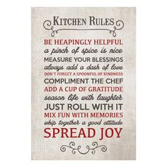 KITCHEN RULES... wall plaque. www.lambertpaint.com Pinch Of Spice, Kitchen Rules, Wall Plaques, Compliments, Don't Forget, Laughter, Fun, Life, Ideas