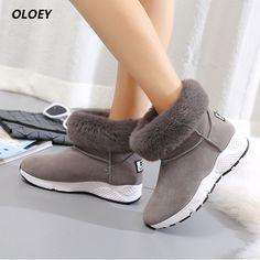 b386a3fcb ... зимние сапоги плюс кашемир утолщение теплые хлопковые сапоги круглый  носок Зимние Сапоги на резиновой подошве женская обувь купить на AliExpress