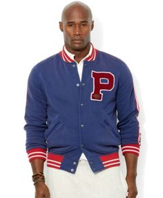 Polo Ralph Lauren Big and Tall Fleece Baseball Jacket