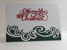 Christmas card for 2015 using a Sue Wilson Merry Christmas die and the Gemini Die - Lyra. .