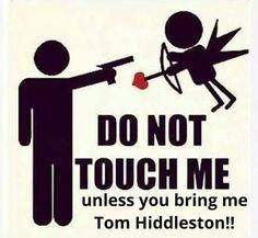 Do Not Touch Me - unless you bring me Tom Hiddlestonhahahahahahahahahah or RA or JP