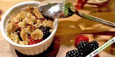 Low Carb Rezept: Heiße Früchte mit Nussstreuseln aus der Kategorie: Backwaren, Süßspeisen