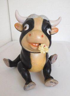 Vintage 1930's Knickerbocker Disney's Ferdinand The Bull Wood Jointed Figure