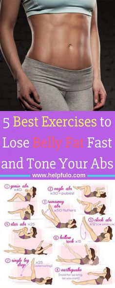 Natural Remedies To Lose Weight The best 5 exercises to lose belly fat and flatten tummy fast. It's true. A flat belly is made in the kitchen. But exercising your abs is just as important as eating a healthy diet. Burn Belly Fat Fast, Reduce Belly Fat, How To Lose Weight Fast, Loose Stomach Fat Fast, Loosing Belly Fat Fast, Reduce Weight, Losing Weight, Belly Fat Diet Plan, Belly Fat Workout