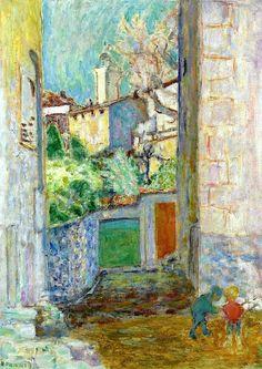 Pierre Bonnard - Dead End (also known as The Lane (Le Cannet), 1925 Pierre Bonnard, Paul Gauguin, House Painting, Painting & Drawing, Painting Lessons, Edouard Vuillard, Fine Art, Henri Matisse, Renoir