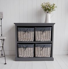 This Low Grey Storage Unit Is Bang On Trend With Its Mix Of Taupe And Greys