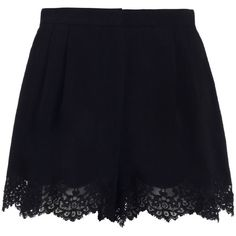 Zimmermann Lace Tuck Short (7.785 UYU) ❤ liked on Polyvore featuring shorts, skirts, bottoms, short, lacy shorts, high waisted lace shorts, high-rise shorts, zimmermann and high waisted zipper shorts
