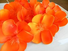Gum paste Wedding Sugar Flowers California Poppy 12 qty for a Modern Wedding, California Wedding, wedding cake