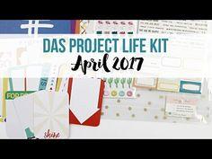 Video zum Project Life Kit April 2017 und Tutorial zur Gestaltung von PL Seiten mit Dani für www.danipeuss.de #projectlife #danipeuss #dpaprilkit17 #crate