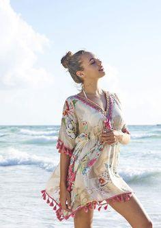 62edec5a817 Lucy Kaftan - Debbie Katz Beaded Lace, Summer Wardrobe, Kaftan, Tassels,  Sequins