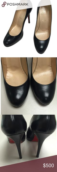 NEW SIMPLE PUMP LEATHER👠 AUTHENTIC New simple pump leather 38.5. Great condition, normal signs of wear on bottoms. Rare soft black leather; the most comfortable Loubs you will own, 120mm. Only selling because I have ankle issues and can only wear 100mm height now... Make an offer !! Christian Louboutin Shoes Heels