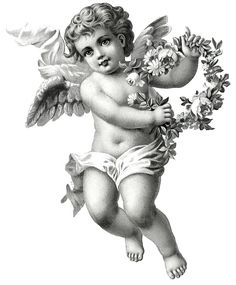 vintage angel drawing - Google Search