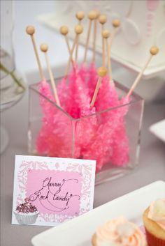 Cherry Hot Pink Rock Candy - girls baby shower