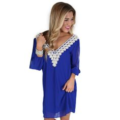 Coveted Style Dress   Impressions Online Women's Clothing Boutique  You'll turn heads in this striking royal blue dress!