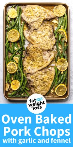 One of my favourite recipes from the sheet pan wonders, this oven baked pork chop recipe with garlic and fennel is an interesting but delicious flavour combination that will really impress, even those who aren't low carb / keto. Sugar Free Recipes, Low Carb Recipes, Ketogenic Recipes, Ketogenic Diet, Easy Recipes, Garlic Recipes, Pork Chop Recipes, Baked Pork Chops, Chops Recipe