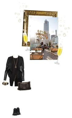 """""""Fashion 101 Lunch date"""" by minagligoric ❤ liked on Polyvore featuring Bouchra Jarrar, Converse, Chanel, Bulgari, Max Azria and Breitling"""