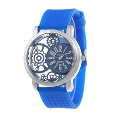 Analog Silicone Roman Numerals Quartz Watch