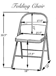 Folding Chair Dimensions.  Good size/dimensions for building school chair.