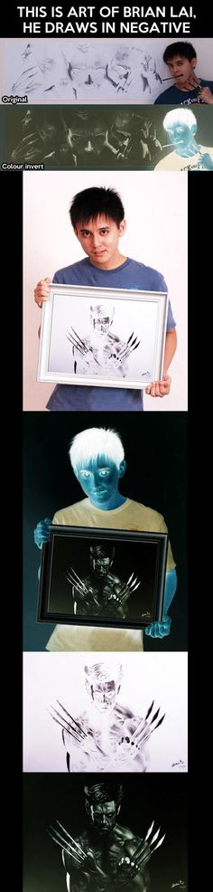 Awesome drawings in negative