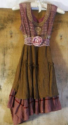 Rustic boho  dress-- Is it crazy that I love this? The rose, how flowy it is, everything!