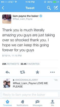 Thank You Liam! #ProudDirectioner