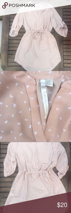"""LC Lauren Conrad butterfly dress. Butterfly dress by LC Lauren Conrad.  Size 4.  Approx length is 34"""".  Drawstring waist.   100% polyester.  Perfect condition. LC Lauren Conrad Dresses"""
