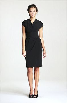 Simple. Comfy. Elegant. Suzi Chin for Maggy Boutique Ruched Faux Wrap Dress | Nordstrom