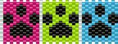 Pawprints Pony Bead Patterns | Misc Kandi Patterns for Kandi Cuffs