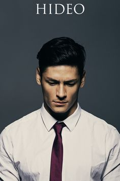 I can't think of a better way to express my gratitude for this sexy Brapanese (Brazilian-Japanese) model. Hideo Muraoka is the perfection Half Japanese, Japanese Men, Der Gentleman, Skinny Ties, Photos Of The Week, Ms Gs, Male Face, Book Characters, Moda Masculina