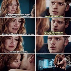 [ ] CLACE IS BACK! 😍 i loved how worried Clary was about Jace, and the way he looked at her 😭 Kinda wish the kiss would've been… Cassandra Clare, Mortal Instruments Runes, Shadowhunters The Mortal Instruments, Clary Et Jace, I Cant Lose You, Shadowhunters Series, Cassie Clare, Dominic Sherwood, Jace Wayland