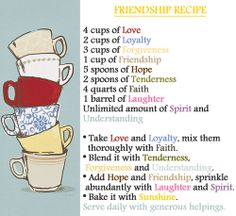 Friendship Recipe <3