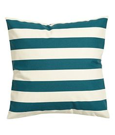 906b74c8026 Wide Striped Accent Decorative 100% Cotton Canvas Throw Pillow Cover Cushion  Cabana Stripes (Teal