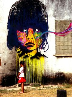 Street art by STINKFISH in GUATEMALA CITY. @ Serge Averbukh from woostercollective.com