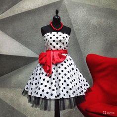 Стиляги пин-ап pin-ap платье белое в горох черный купить в Москве на Avito — Объявления на сайте Avito