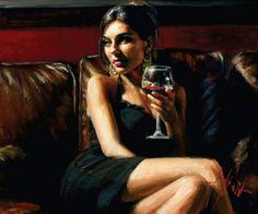 Mujer con copa