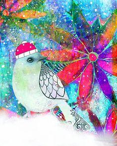 Chrystal The Snow Bird Print by Robin Mead