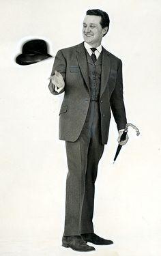cariheart: Steed & his rarely seen levitating bowler.