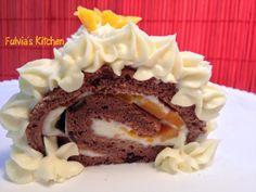 Fulvia's Kitchen: #Rotolo al #cioccolato e #mango