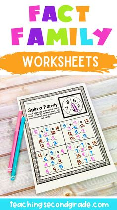 If your students need practice learning about fact families, then this 43 page set of Addition and Subtraction Printables is just what you need! I have included a variety different ways for your students to get lots of practice. These worksheets are great for 1st, 2nd, or 3rd grade and homeschool students. Use them review, math centers, or stations. #2ndgrademath #mathworksheets #facefamily #2ndgradeactivities 2nd Grade Activities, Fun Math Activities, Math Resources, Teaching Second Grade, 1st Grade Math, Fact Family Worksheet, Addition And Subtraction Worksheets, Classroom Pictures, Math Stem