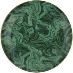 L'Objet Malachite Round Platter - 46cm ($607) ❤ liked on Polyvore featuring home, kitchen & dining, serveware, green, serving platters, serving dish, green dishes, round platter and serving dishes