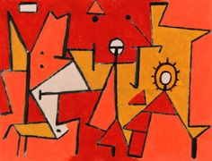 Hitze von Künstler Paul Klee als gerahmtes Bild